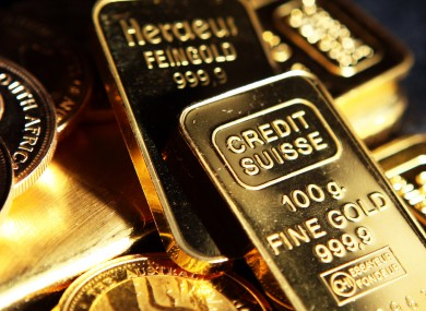 Some of the gold bars owned by Irish investors in GoldCore's London office.