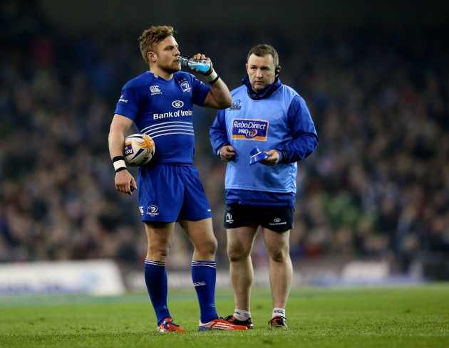 Ian Madigan and skills and kicking coach Richie Murphy