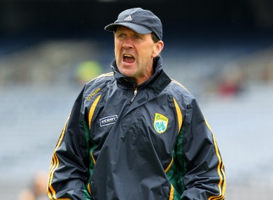 Kerry minor manager Jack O'Connor.