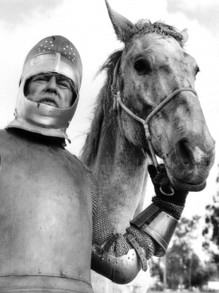 Lee J Cobb, playing Don Quixote on a CBS TV show in 1959.