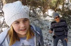 Lip-syncing Dad steals the show during daughter's rendition of Let It Go
