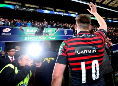 Owen Farrell takes the plaudits at full-time.