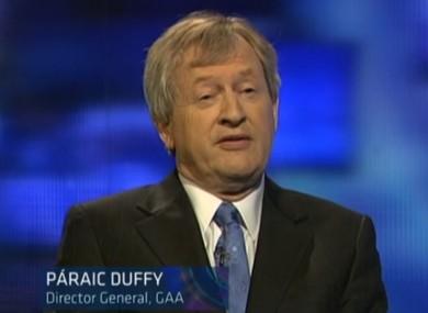 Paraic Duffy speaking on Prime Time last night.
