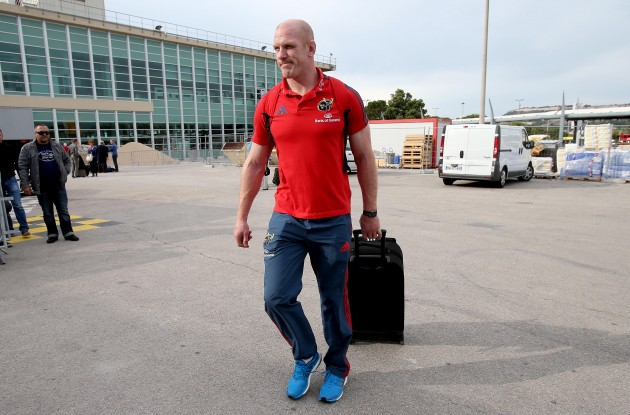 Paul O'Connell arrives in Marseille