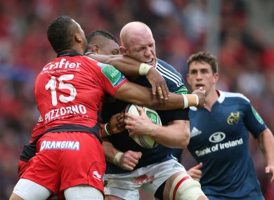 Paul O'Connell was as prominent as ever in the tight for Munster.