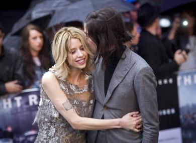 Peaches Geldof with her husband Thomas