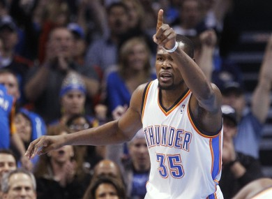 Kevin Durant has had another high-scoring season for the Oklahoma City Thunder.