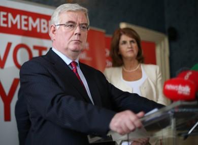 Eamon Gilmore and Social Protection Minister Joan Burton.