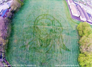 Jesus portrait in a field in Drogheda