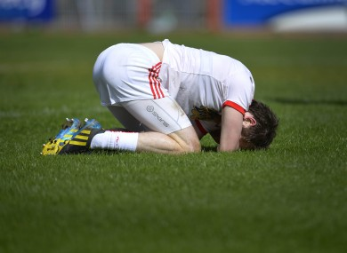 Ronan McNamee down injured.