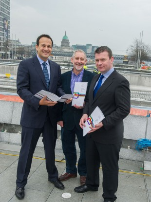 Leo Varadkar TD, Minister for Transport, Tourism and Sport, Alan Kelly TD, Minister for Public and Commuter Transport and Gerry Murphy, Chief Executive of the National Transport Authority