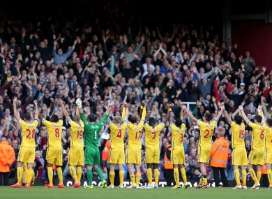 The Palace players at the final whistle.
