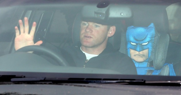 Has Wayne Rooney arrived at Manchester United training with David Moyes' successor?