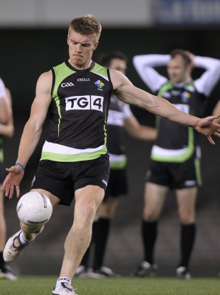 Tommy Walsh training for the Ireland International Rules team.