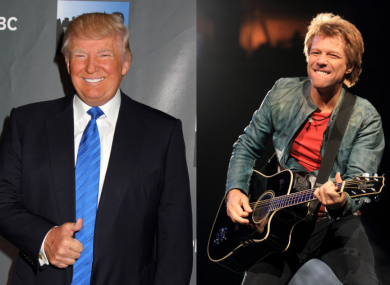 Trump and  (right) Bon Jovi.