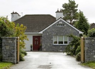 The house on Bachelor's Walk in Tullamore, Co Offaly, where the body of an 11-year-old girl was discovered in 2012.