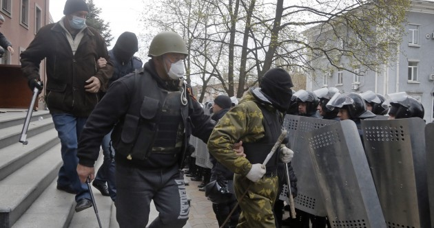 The situation in eastern Ukraine is continuing to escalate