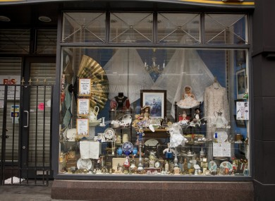 A charity shop on George's Street in Dublin.