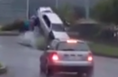 Shocking video shows car deliberately crashing into street lights at 'modified car meet'