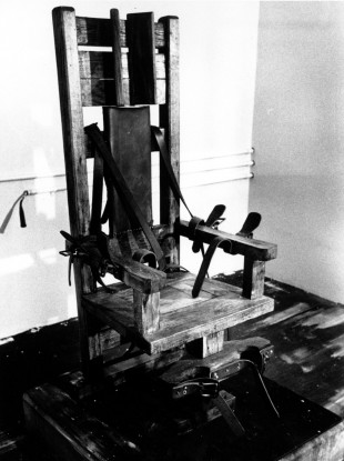 File photo of the electric chair at the Tennessee State prison in Nashville.