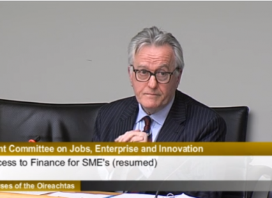 ISME chief executive Mark Fielding at the jobs committee today