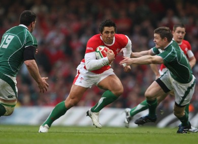 Henson carries the ball against Ireland in 2009.