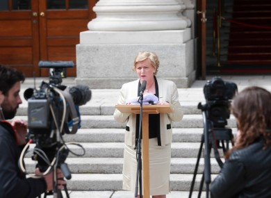 New Justice Minister Frances Fitzgerald speaking last week.