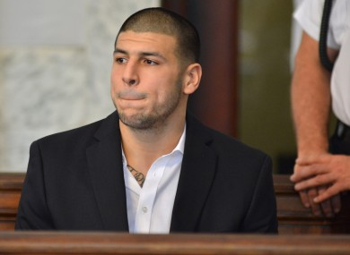 Hernandez in court last year.