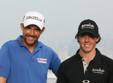 Harrington and McIlroy (file photo).