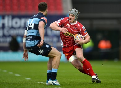 Jonathan Davies of the Scarlets will be playing with Clermont in the Top 14 next season.