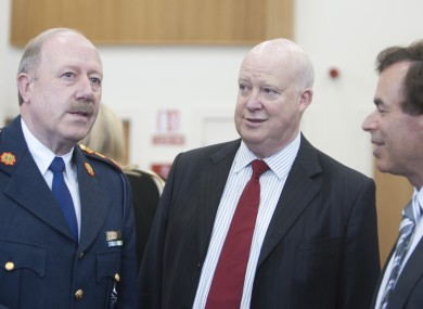 Brian Purcell (centre) with former Garda Commissioner Martin Callinan and former Justice Minister Alan Shatter