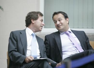 Alan Shatter and Leo Varadkar (File photo)