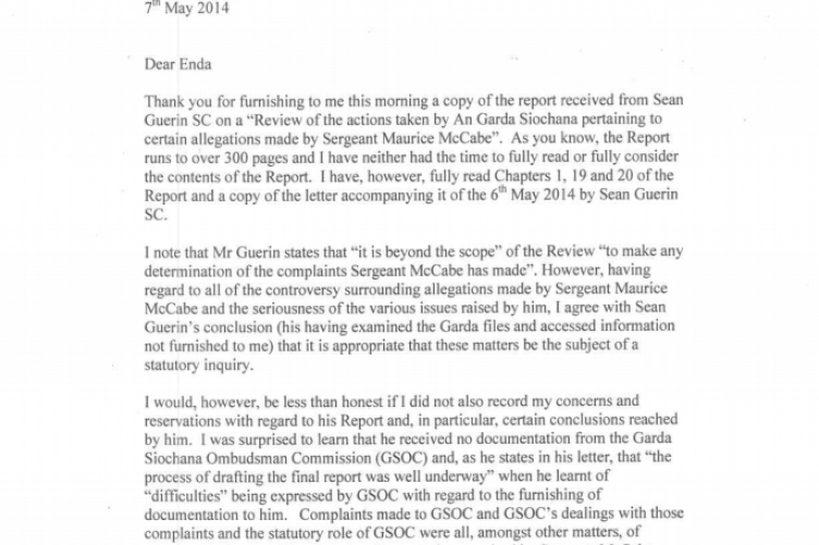 Dear Enda Here is Alan Shatters resignation letter – Resignation Letter Ireland