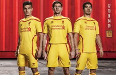 Liverpool will wear their new away kit for the first time in Dublin tonight
