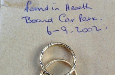 Wedding rings found in Wicklow car park 12 years ago returned to owner