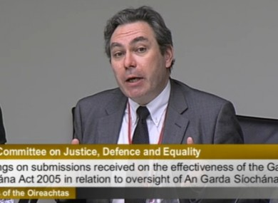 Mark Kelly, ICCL (Pic: Screengrab/Oireachtas TV)
