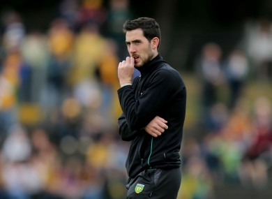 Mark McHugh 'needed a bit of time out', says Donegal selector Damien Diver.