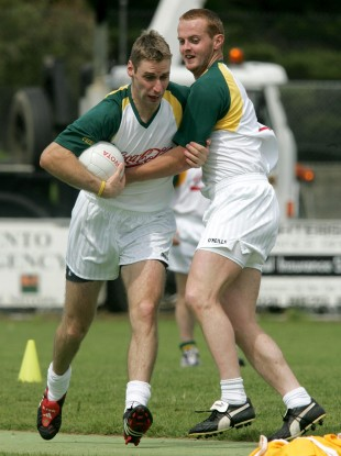 Wexford's Matty Forde and Down's Benny Coulter.