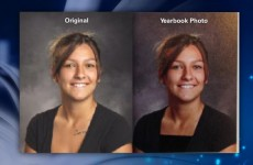US high school alters yearbook photos so female students 'show less skin'