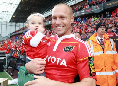 Warwick at Thomond Park following his final game for Munster in 2011.
