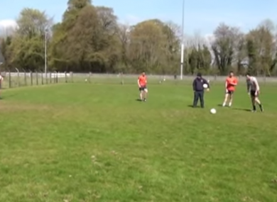 Leitrim try their hands at the Spot Kick Challenge