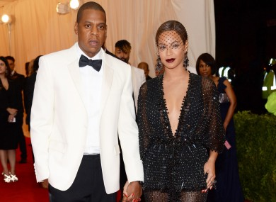 Jay Z and Beyonce at The Met gala.