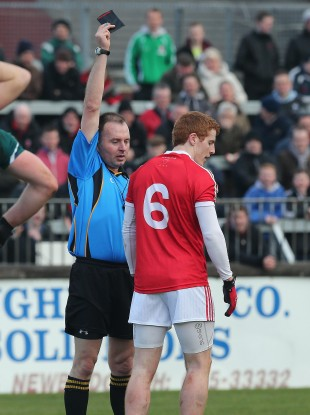 Tyrone's Peter Harte was one of the players shown a black card during the spring.