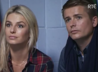 Pippa O'Connor and Brian Ormond in an episode of Celebrity Bainisteoir: The Rivals, one of shows produced by Animo for RTÉ.