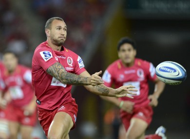 Quade Cooper was guilty of some loose kicking as the Reds lost heavily to the Crusaders.