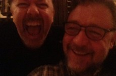 Ricky Gervais and Russell Crowe drunk-tweeted their night on the lash
