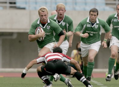 Wilson in Ireland colours against Japan in 2005.