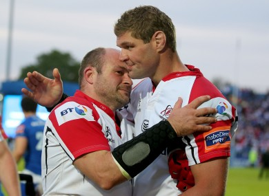 Rory Best says an emotional farewell to Johann Muller.