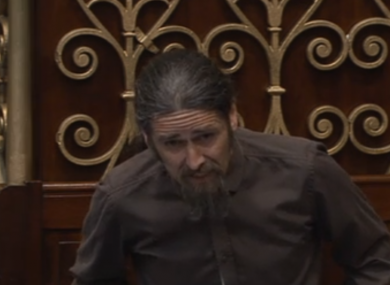 Luke 'Ming' Flanagan in the Dáil today.