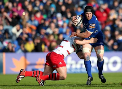 Sean O'Brien was back in action for Leinster in the RDS.